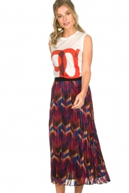 ba&sh |  Midi skirt with print Paolo | multi  | Picture 2