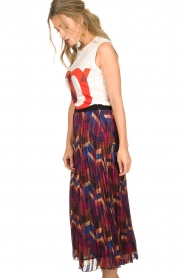 ba&sh |  Midi skirt with print Paolo | multi  | Picture 4
