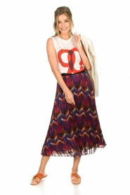 ba&sh |  Midi skirt with print Paolo | multi  | Picture 3