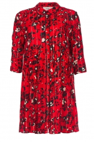 ba&sh |  Dress with print Erine | red  | Picture 1