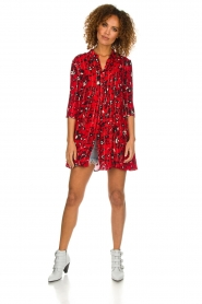 ba&sh |  Dress with print Erine | red  | Picture 3