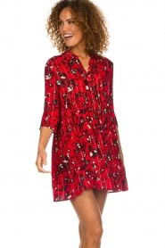 ba&sh |  Dress with print Erine | red  | Picture 2