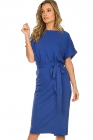 ba&sh |  Midi wrap dress Clare | blue  | Picture 4