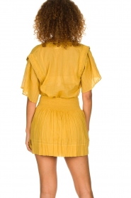ba&sh |  Ochre yellow blouse Serena | yellow  | Picture 5