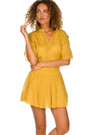 ba&sh |  Ochre yellow blouse Serena | yellow  | Picture 2