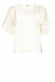 ba&sh |  Blouse with ruffles Serena | natural  | Picture 1