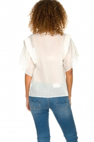 ba&sh |  Blouse with ruffles Serena | natural  | Picture 5