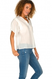ba&sh |  Blouse with ruffles Serena | natural  | Picture 4