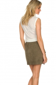 ba&sh | Leather skirt Rosanna | green  | Picture 6