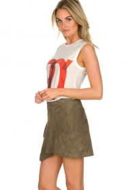 ba&sh | Leather skirt Rosanna | green  | Picture 5