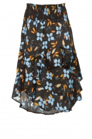 Munthe |  Floral midi skirt Dartfish | black  | Picture 1