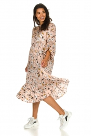 Munthe |  Floral midi dress Dull | nude  | Picture 3