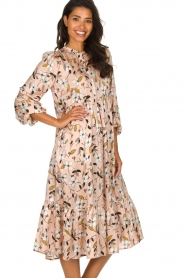 Munthe |  Floral midi dress Dull | nude  | Picture 5