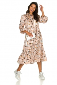 Munthe |  Floral midi dress Dull | nude  | Picture 7