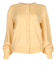 Munthe |  Cardigan with lurex details Drumroll | beige  | Picture 1
