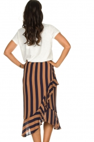 Munthe |  Striped midi skirt Dom | brown  | Picture 6