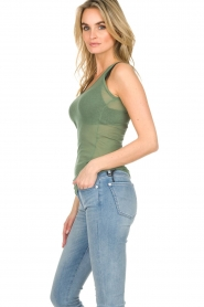 American Vintage |  Cotton tank top Massachusetts | green  | Picture 3