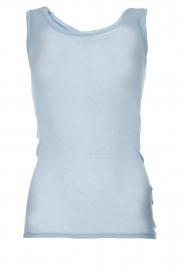 American Vintage |  Cotton tank top Massachusetts | blue  | Picture 1