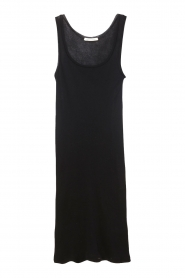 American Vintage |  Sleeveless cotton dress Massachusetts | black  | Picture 1