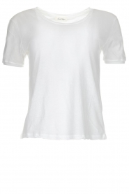American Vintage |  Cotton basic top Chipiecat | white   | Picture 1