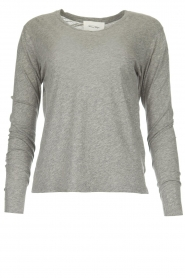 American Vintage |  Cotton longsleeve top Chipiecat | grey  | Picture 1
