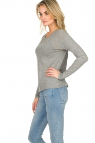 American Vintage |  Cotton longsleeve top Chipiecat | grey  | Picture 4
