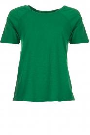 American Vintage | Katoenen T-shirt Lorkford | groen  | Afbeelding 1