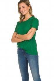 American Vintage | Katoenen T-shirt Lorkford | groen  | Afbeelding 5
