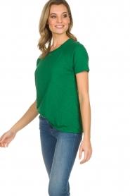American Vintage | Katoenen T-shirt Lorkford | groen  | Afbeelding 4