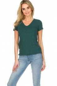 American Vintage |  Cotton T-shirt Sonoma | green  | Picture 3