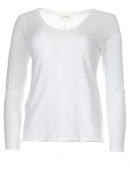 American Vintage |  Cotton longsleeve top Sonoma | white