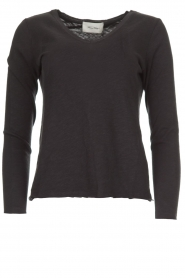 American Vintage |  Cotton longsleeve top Sonoma | dark grey  | Picture 1