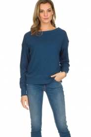 American Vintage |  Cotton basic sweater Sonoma | blue  | Picture 2