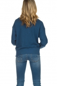 American Vintage |  Cotton basic sweater Sonoma | blue  | Picture 5