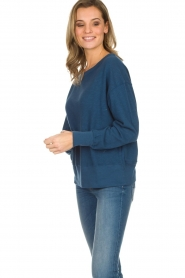 American Vintage |  Cotton basic sweater Sonoma | blue  | Picture 4