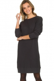 American Vintage |  Cotton basic dress Sonoma | dark grey  | Picture 2