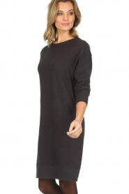 American Vintage |  Cotton basic dress Sonoma | dark grey  | Picture 4