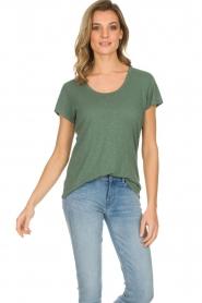American Vintage | Basic T-shirt Jacksonville | groen  | Afbeelding 2