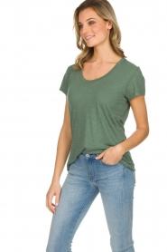 American Vintage |  Basic T-shirt Jacksonville | green  | Picture 4