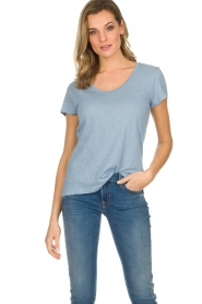 American Vintage | Basic T-shirt Jacksonville | lichtblauw  | Afbeelding 3