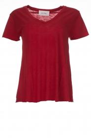 American Vintage | Basic T-shirt Jacksonville | rood  | Afbeelding 1