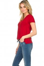 American Vintage | Basic T-shirt Jacksonville | rood  | Afbeelding 4