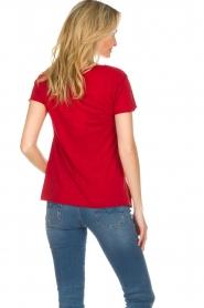 American Vintage | Basic T-shirt Jacksonville | rood  | Afbeelding 5