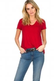 American Vintage | Basic T-shirt Jacksonville | rood  | Afbeelding 2