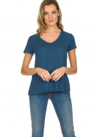 American Vintage | Basic T-shirt Jacksonville | blauw  | Afbeelding 3