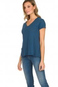 American Vintage | Basic T-shirt Jacksonville | blauw  | Afbeelding 5