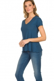 American Vintage | Basic T-shirt Jacksonville | blauw  | Afbeelding 4