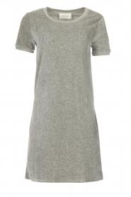 American Vintage | Fluwelen jurk Isacboy | grijs  | Afbeelding 1