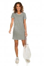 American Vintage | Fluwelen jurk Isacboy | grijs  | Afbeelding 3