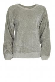 American Vintage | Fluwelen trui Isacboy | grijs  | Afbeelding 1